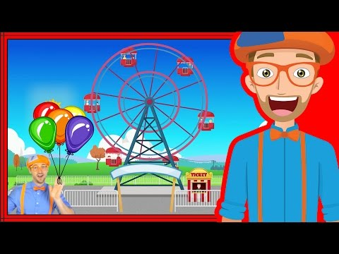 Theme Park rides with Blippi | Theme Park Song
