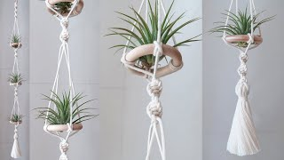 Making a Macrame hanger for Ti…
