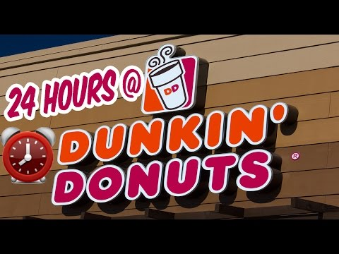 YUM 24 HOUR OVERNIGHT in DONUT SHOP FORT ⏰  CRAZY OVERNIGHT DONUT CHALLENGE ALMOST PUKED SRIRACHA