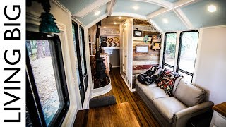 School Bus Converted To Incredible Off-grid Home