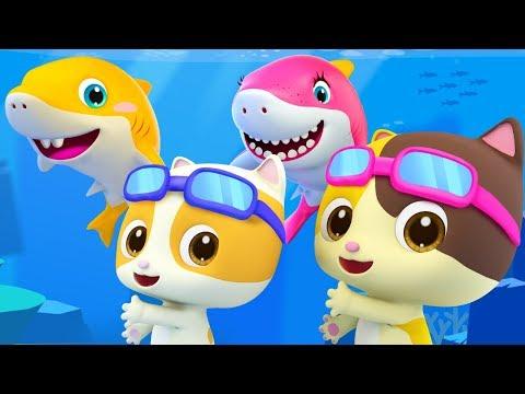 Baby Shark - Fun at Swimming Pool  Nursery Rhymes  Kids Songs  Kids Cartoon  BabyBus