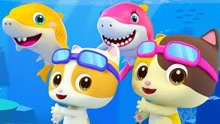 Baby Shark - Fun at Swimming Pool | Nursery Rhymes | Kids Songs | Kids Cartoon | BabyBus