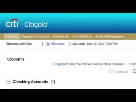 Citi: How To Make An Online Bill Payment