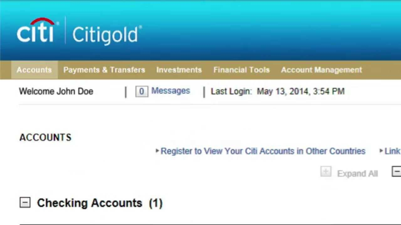 Citibank nro account online