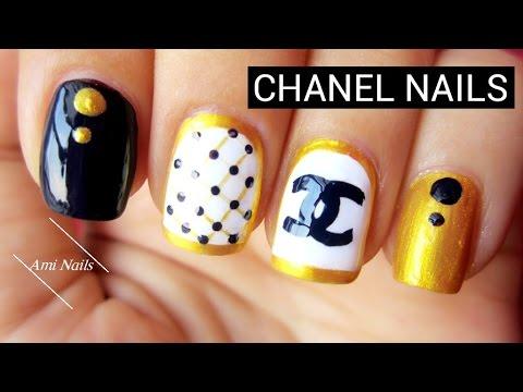 Chanel Nail Art Tutorial Nail Art Designs Youtube