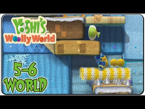 Yoshi's Woolly World 100% Walkthrough World 5-6 Up Shuttlethread Pass