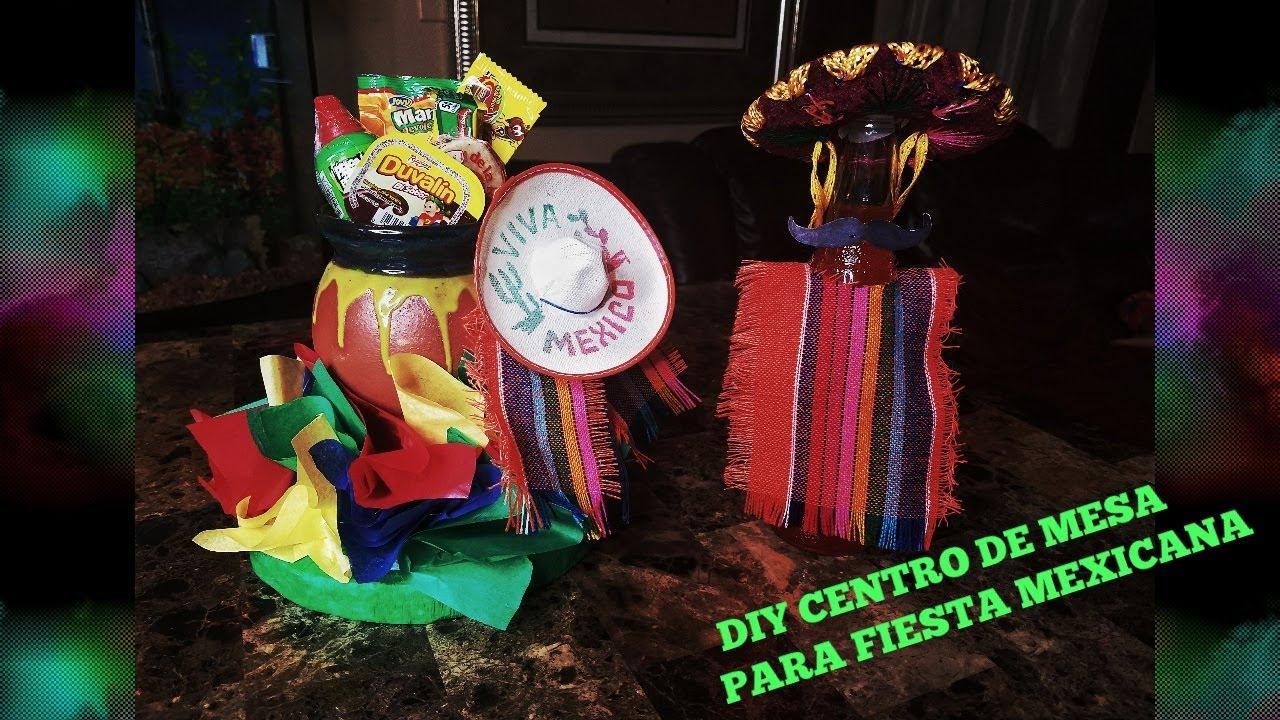diy centros de mesa para fiesta mexicana