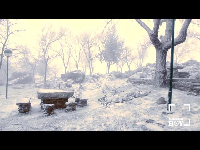 Vídeo: La ola de frío deja nieve en la Sierra de Cabra y pasa de puntillas por la Subbética