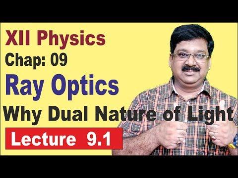 NCERT-XII-Physics-Chap-9.1- Why Dual Nature Of Light-Ray Optics