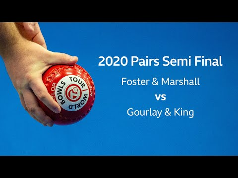 Just. 2020 World Indoor Bowls Championships: Day 3 Session 2 - Foster & Marshall V Gourlay & King