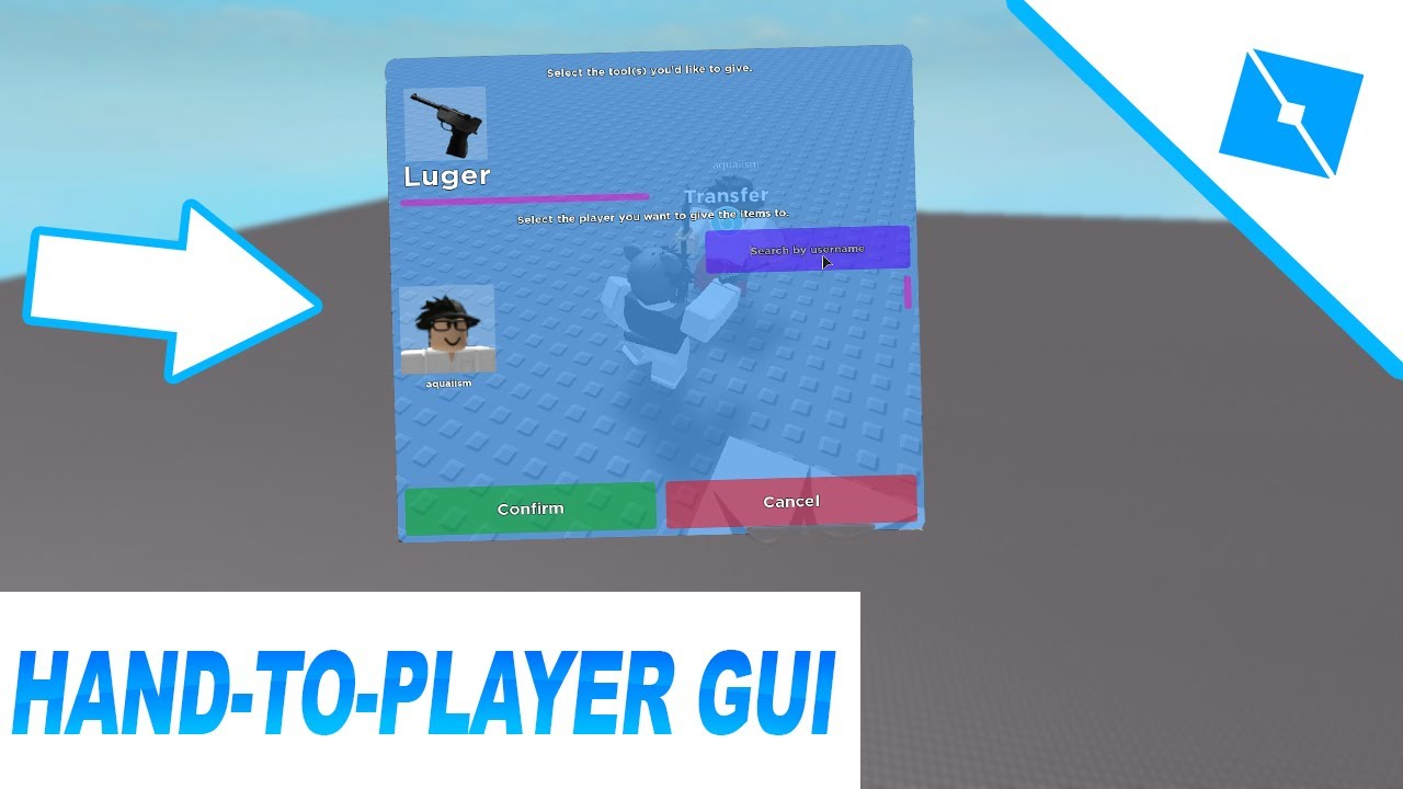 How To Add Hand To Player Gui Roblox Studio Youtube