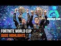Fortnite World Cup - Duos highlights