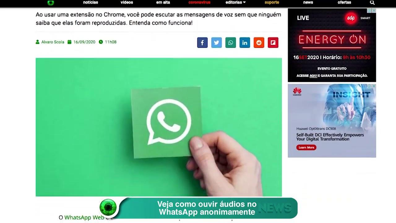 Veja como ouvir áudios no WhatsApp anonimamente