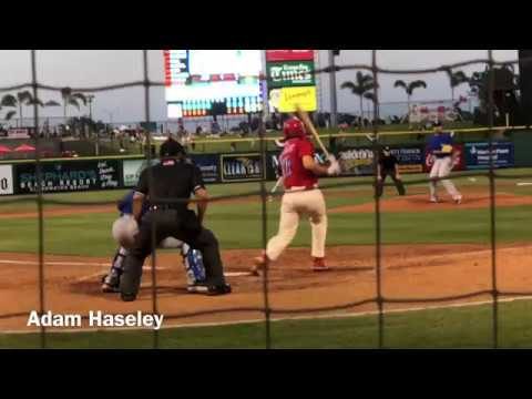 Adam Haseley hits two RBI singles vs Dunedin