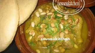 Tajine au Poulet et Pois chiches / Chicken Tagine with Chick peas