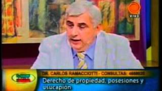 Derecho de propiedad, posesiones y usucapión - Dr Carlos Ramacciotti 20110224.3gp