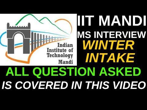 MY FRIEND'S IIT MANDI MS INTERVIEW | IIT MANDI MS | START LEARNING TODAY