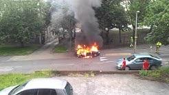 CAR FIRE  - BRADLEIGH AVENUE GRAYS ESSEX 25.06.12