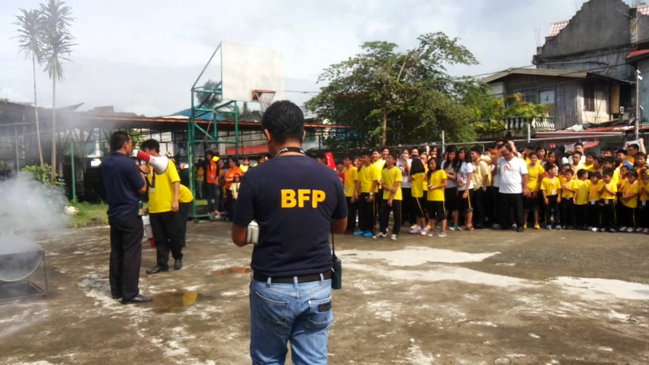 Irvinghall School Fire Drill S.Y. 2014-2015 - lead by Sgt. Dela Torre - Part 1