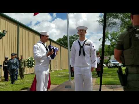 Retired Military War Dog Ceremony with Full Honors