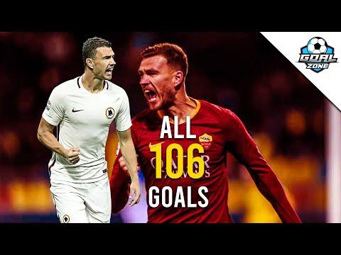 Edin Dzeko - All 106 Goals for Roma So Far