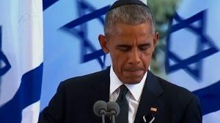 بالفيديو - أوباما: ''بيريز'' مثل نيلسون مانديلا في نضاله