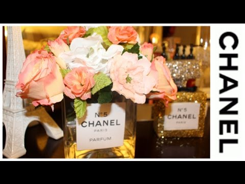 Diy room decor chanel inspired acrylic water floral for Room decor youtube channel