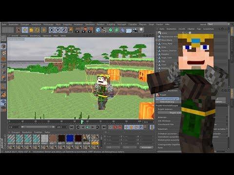 Cinema 4D Tutorial - Eine Minecraft animation erstellen [German/Deutsch] Part 1 - Die Welt