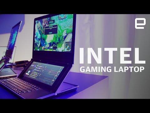 Intel dual-screen gaming laptop prototype Honeycomb Glacier Hands-On at Computex 2019