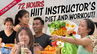 We Ate & Trained Like HIIT Instructors For 72 Hours | 72 Hours Challenges | EP 8