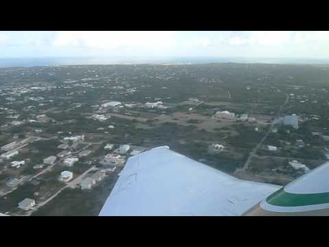 Take-off from Anguilla, bound for San Juan on Rainbow Airlines' Beechcraft King Air