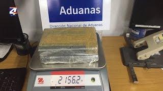Aduana incautó más de dos kilos de cocaína en el puente General Artigas