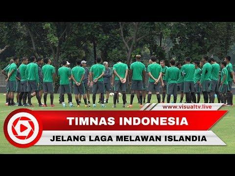 Jelang Indonesia Vs Islandia, Timnas Indonesia Latihan Perdana di GBK