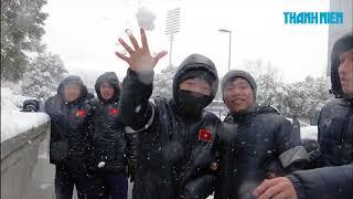 Công Phượng, Quang Hải, Tiến Dũng chơi tuyết ở Thường Châu ,Trung Quốc
