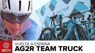 Inside The AG2R La Mondiale Mechanic's Truck | La Vuelta A España 2017