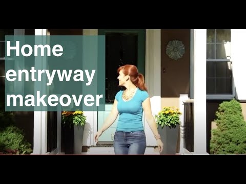 Home makeover: How we helped homeowners add color to their entryway