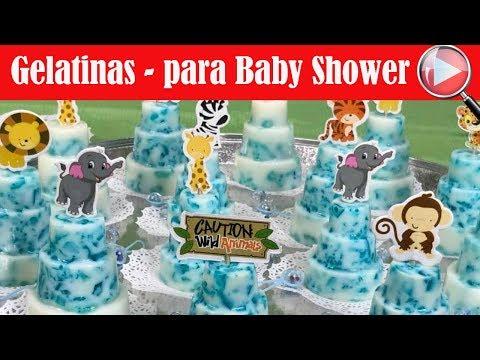Gelatinas Individuales para un Baby Shower de Ni�o - Recetas en Casayfamiliatv
