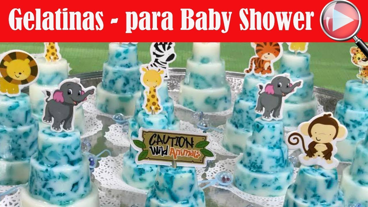 Gelatinas Individuales Para Un Baby Shower De Niño Recetas En Casayfamiliatv Youtube
