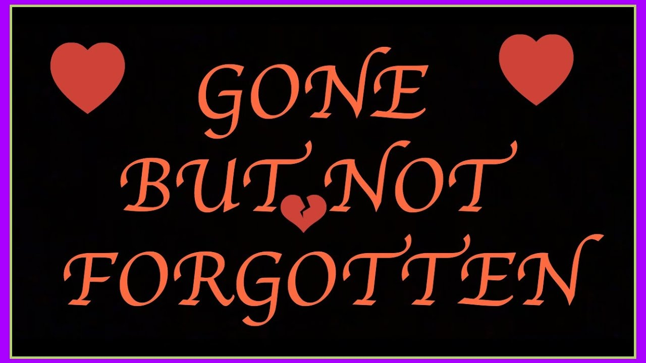 Image result for gone but not forgotten