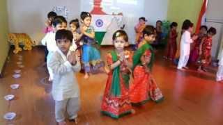 Angel Kids Preschool Pre Independence Day Celebratation - Desh Rangeela Rangeela Dance  by LKG B