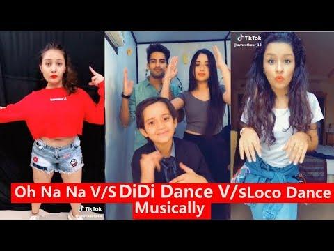 Oh Na Na Dance V/s Didi Dance V/S Loco Challenge Musically | Avneet Captain Nick, Aashika, Mrunal