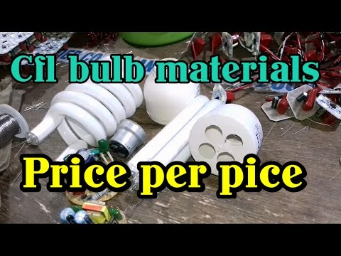 Cfl bulb materials price/ Per pice cost of cfl bulb