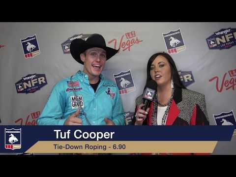 2019 #WranglerNFR | Round 3 Winner | Tie-Down Roping | Tuf Cooper | 6.9 Seconds