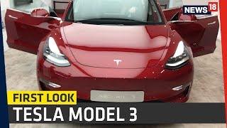 Exclusive Tesla Model 3 First Look Review India, Paris Motor Show 2018