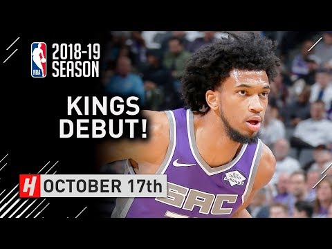Marvin Bagley III Official NBA Debut Full Highlights Kings vs Jazz 2018.10.17 - 6 Pts, 5 Reb