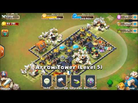 Castle Clash - Best Defense For Town Hall Level 11!!