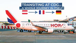 TRIPREPORT | Air France (ECONOMY) | Vienna - Paris CDG - Bremen | Airbus A321 / Embraer 170