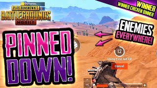 PINNED DOWN! Can We SURVIVE? PUBG Mobile