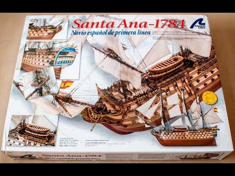 Artesania Latina Santa Ana 1784 1:84 Scale Wooden Model Ship Kit