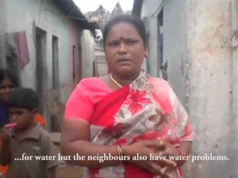 Water and sanitation problems in slums of Bangalore, Karnataka
